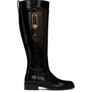 Versace Black Medusa Riding Boot